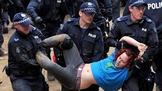мирные демонстрации в Австралии #протесты #полиция