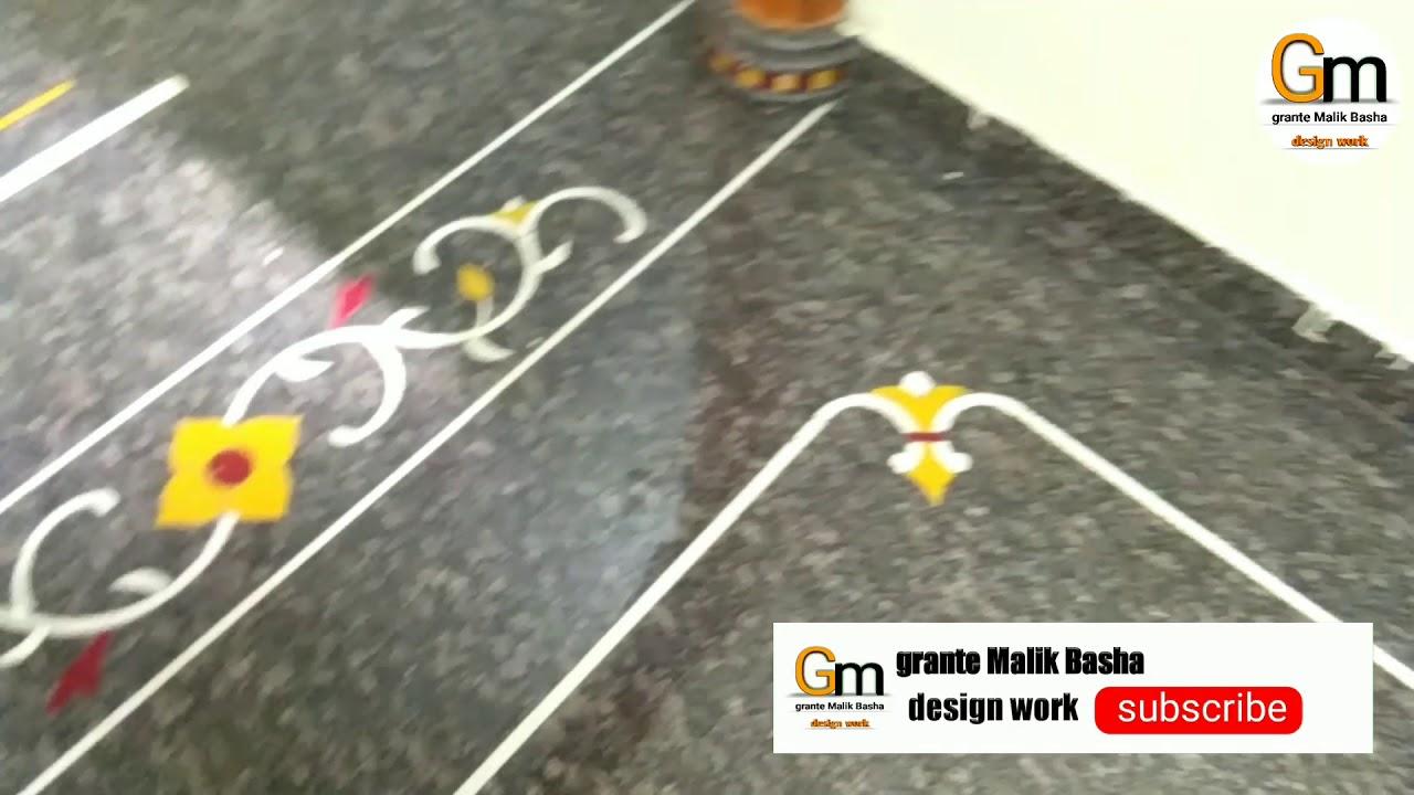 Granite Flooring Border Design Youtube