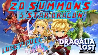 20 Summons & Pulled Rare Nat 5 Dragon - Dragalia Lost