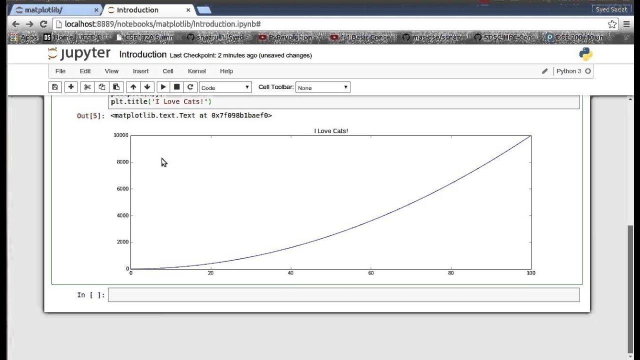 Matplotlib (Python Plotting) 1: Introduction