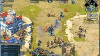 Age Of Empires Online Walkthrough - Pt.207 Greek -even More Cretins Hard 30 Waves Coop (iii)