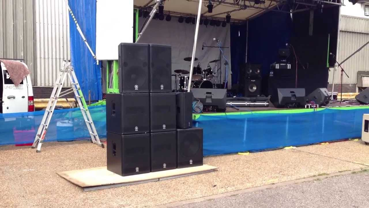 YAMAHA NEXO DSR DXR DXS ACTIVE GROUND STACK PA SYSTEM