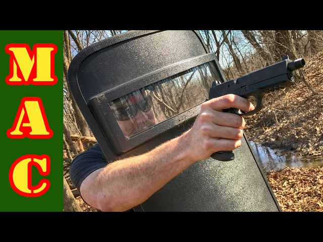 HighCom Ballistic Shield Test - This thing takes a beating!