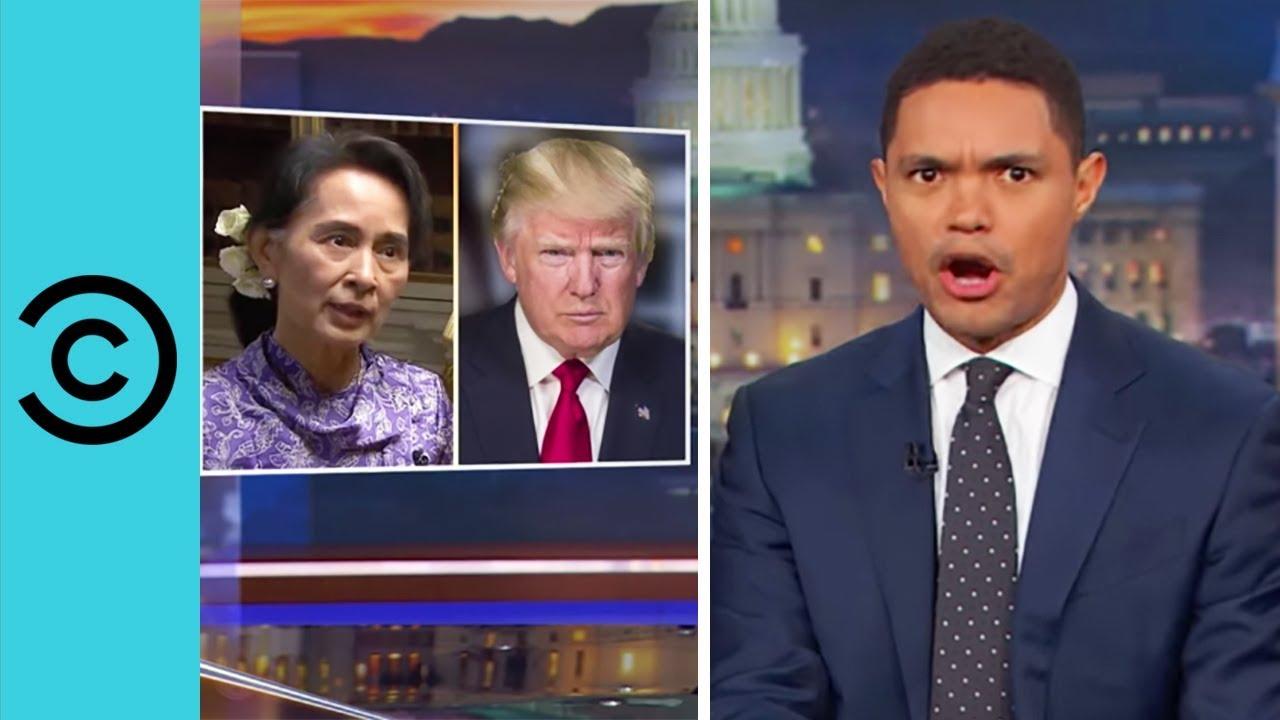 Aung San Suu Kyi Plays Her Trump Card   The Daily Show - YouTube
