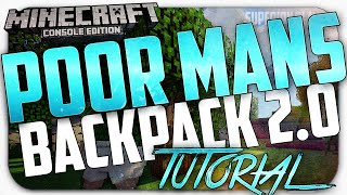 Minecraft Xbox 360/One/PS3/PS4: How to Get a Backpack! - Poor mans Backpack 2.0