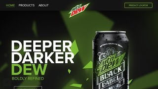 Web Design Speed Art - Mountain Dew Black Label