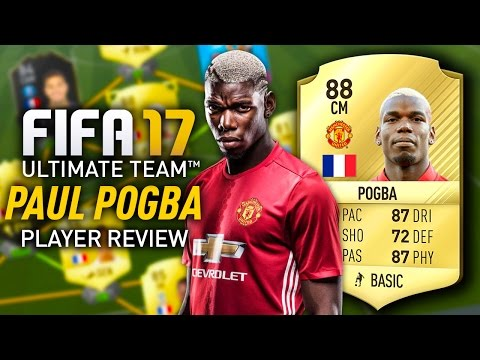 FIFA 17 PAUL POGBA (88) PLAYER REVIEW! FIFA 17 ULTIMATE TEAM!