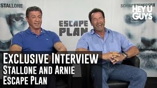 Sylvester Stallone & Arnold Schwarzenegger - Escape Plan Exclusive Interview