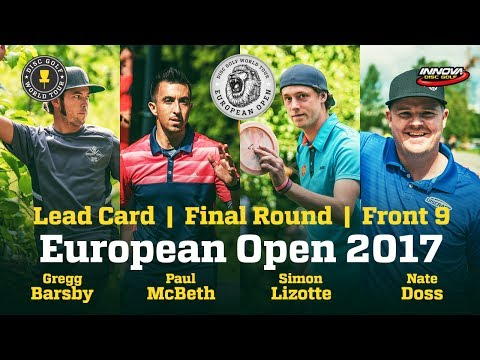 European Open 2017 Lead Card, Final Round, Front 9