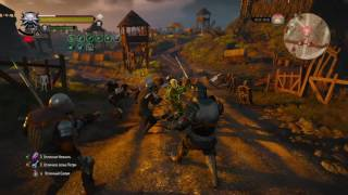The witcher 3 god mode , max dps ,1.22