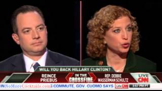 EPIC: Reince Priebus and Blabbermouth-Schultz go head to head in shouting match on Crossfire PART 3