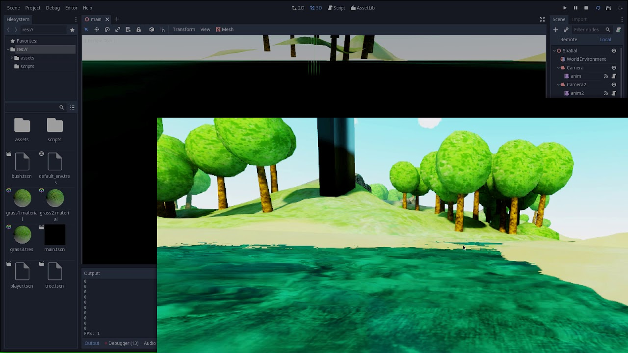 Godot Martinique 3D demo on OpenBSD