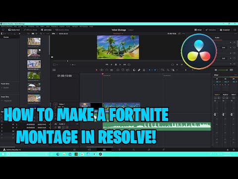 How to Make a Fortnite Montage in Davinci Resolve! (2020) - (Perfectly Synced)