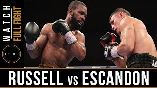 Russell vs Escandon FULL FIGHT: May 20, 2017 - PBC on Showtime