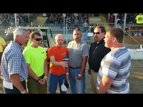 Singing the National Anthem at the Fairbury American Legion Speedway!!!