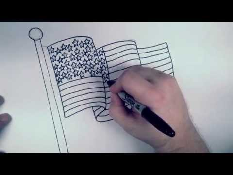 How to Draw an American Flag | RBH