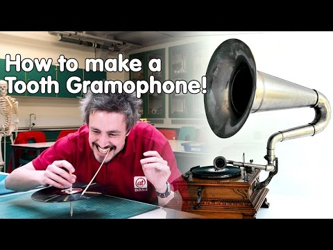 How to listen to a record with your teeth   Do Try This at Home   At-Bristol Science Centre