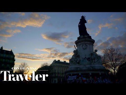 Watch the Sunset at Place de La Republique in Paris