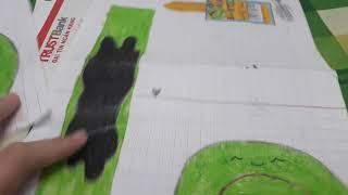 Cách làm squishy giấy 3d bánh cuộn phần 2_Ngọc Thủy Channel