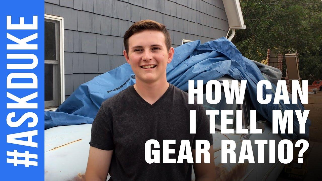 How Can I Tell My Gear Ratio? #AskDuke 001