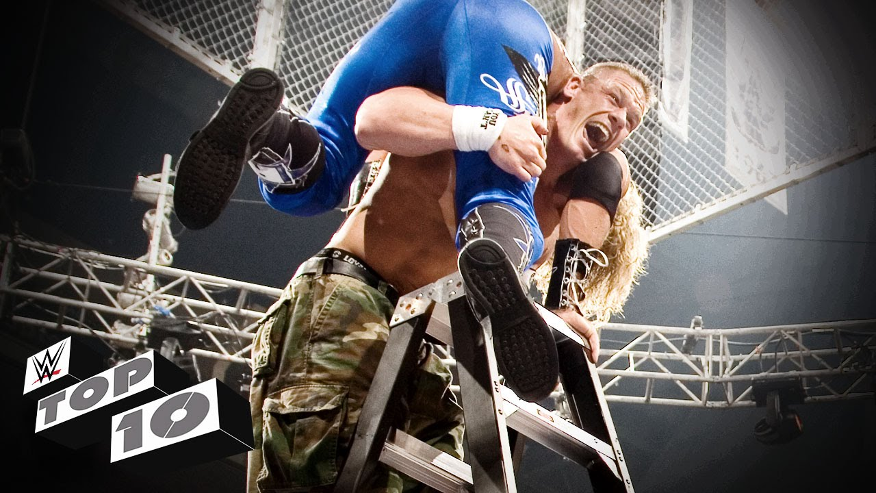 The Most Insane TLC Match Moments - WWE Top 10 - YouTube