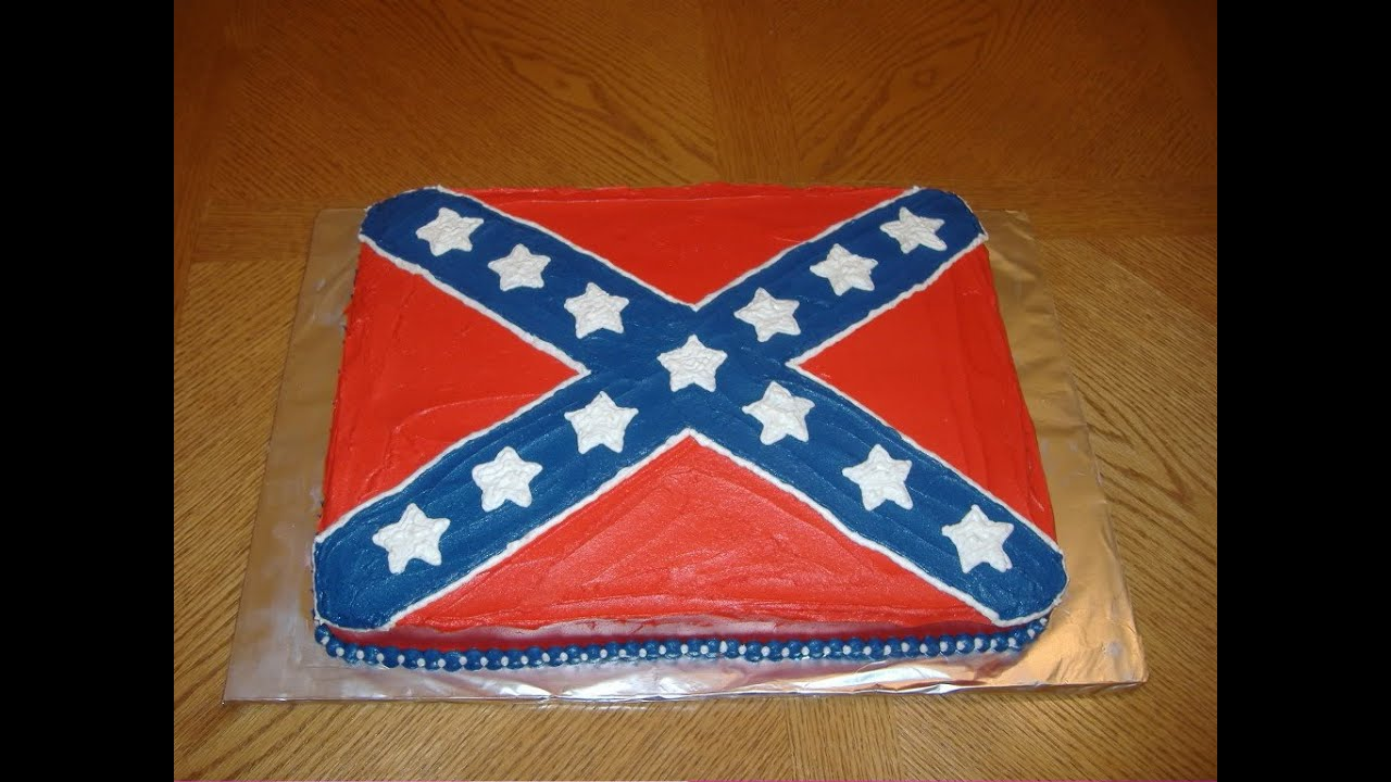 How To Make A Rebel Flag Cake