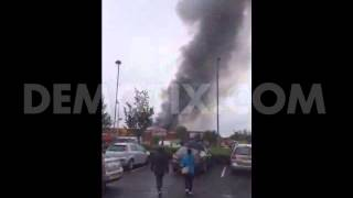 Shopping Centre Stores Destroyed By Fire In Belfast