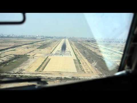 Aseman 727 landing in Ahwaz