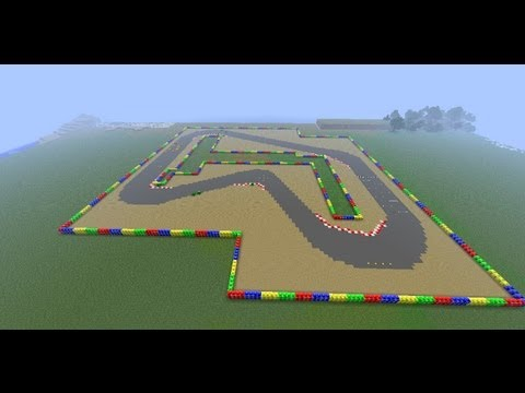 mine kart mario circuit 1 from super mario kart in minecraft youtube. Black Bedroom Furniture Sets. Home Design Ideas