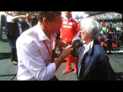 Mexican GP Coulthard INSULTS Bernie Ecclestone