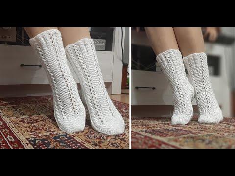 Носки вязание спицами схема