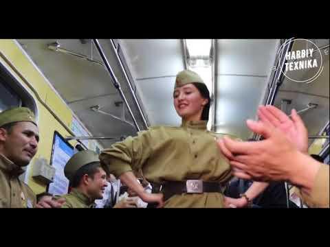 Флешмоб в Ташкентском метро. Мы помним! Мы гордимся! ЧАСТЬ 2