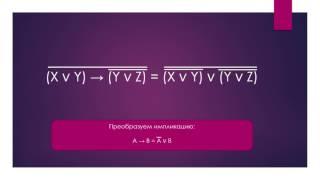 Алгебра логики. Преобразование логических выражений