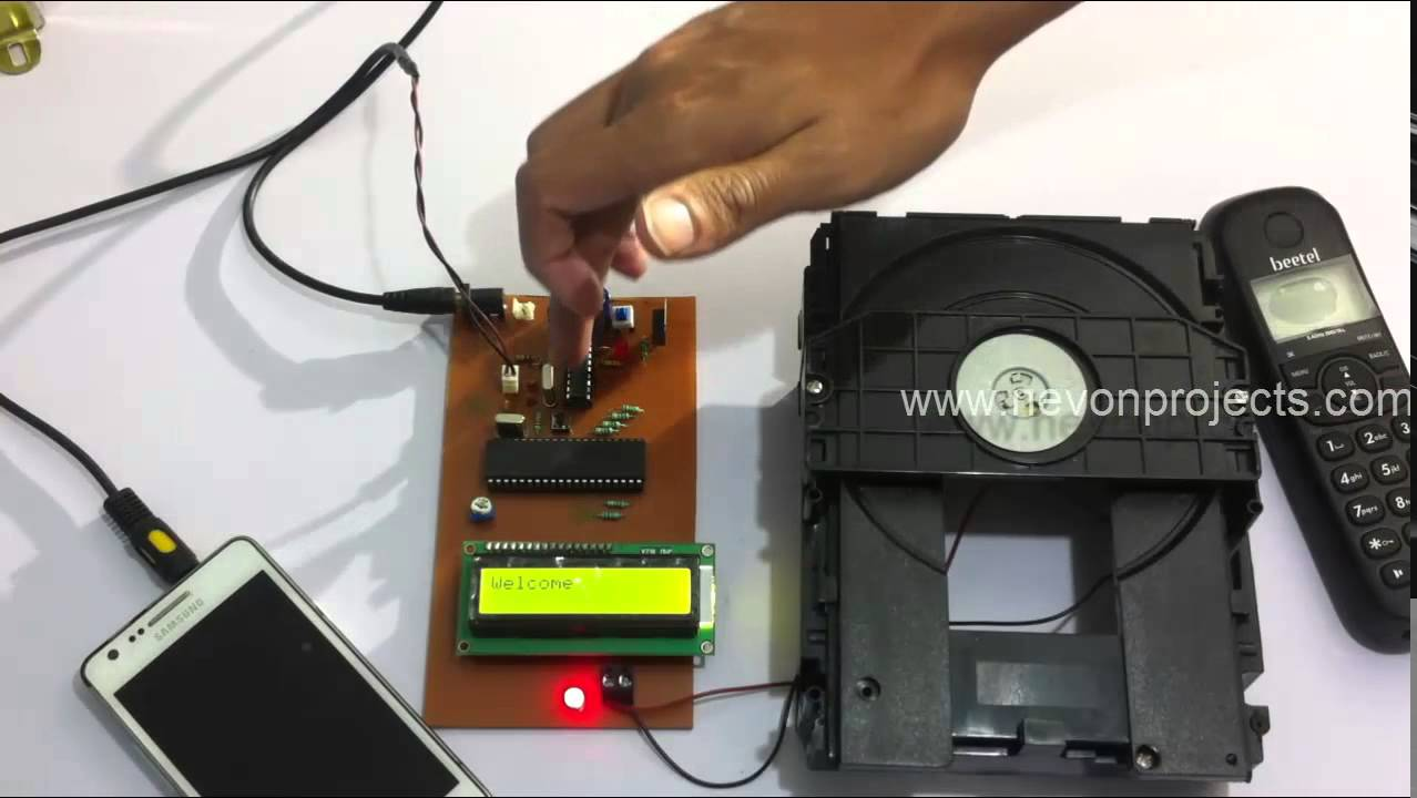 Garage Door Opening System Controlled By Dtmf Cell Phone Based Load Control Circuit Diagram Opener You