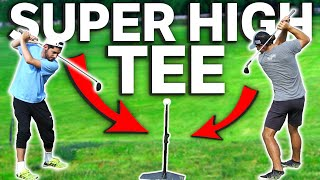 Using The Worlds Tallest Tee On Every Shot