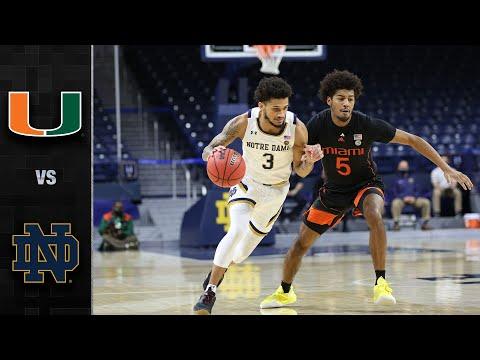Miami vs. Notre Dame Men's Basketball Highlight (2020-21)