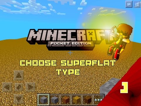 How to Choose Superflat World Blocks Minecraft Pocket Edition 0.9.4