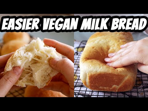 Easy Vegan Milk Bread - SOFT + SPRINGY Sandwich Bread + Buns | Mary's Test Kitchen