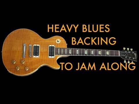 Heavy Blues Rock in B - Excellent Guitar Backing Track [HD Audio]