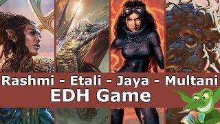 Rashmi vs Etali vs Jaya vs Multani EDH / CMDR game play for Magic: The Gathering