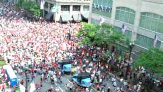 Crowd Dynamics After Chicago Blackhawks Parade