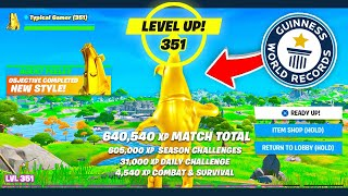 WORLD RECORD! 640,540 XP in ONE GAME! (not clickbait)