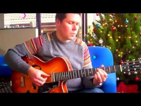 Santa Baby - Jazz fingerstyle guitar solo + TAB