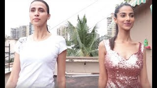 Meenakshi Chaudhary's ramp walk training session with Alesia Raut