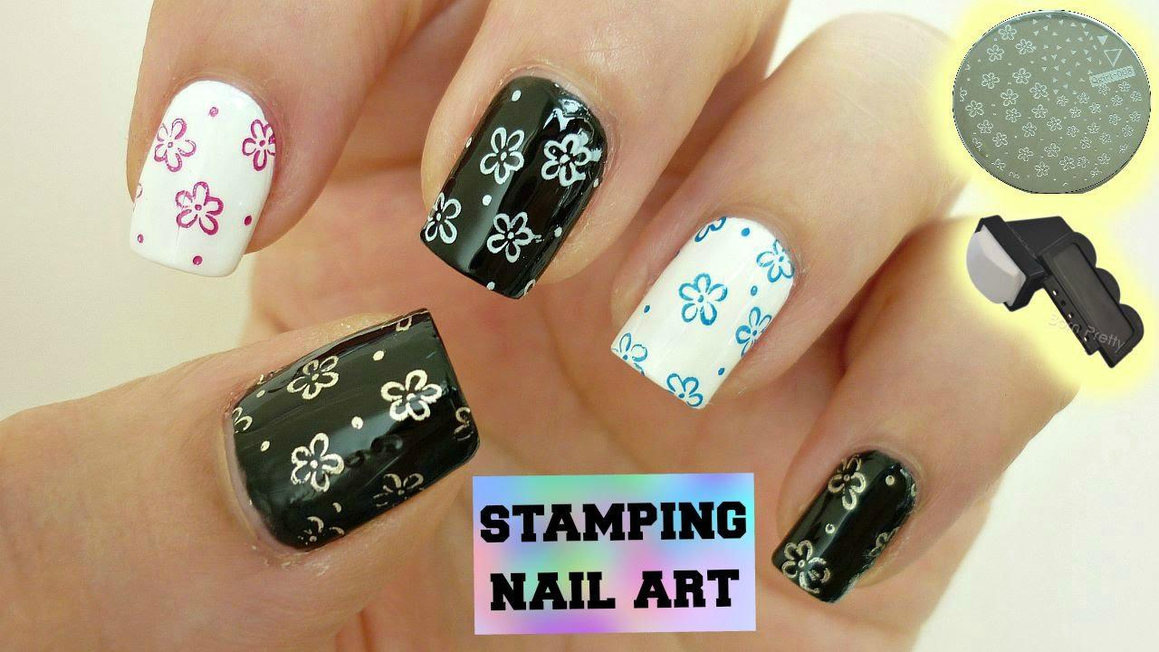 Stamping Nail Art Tutorial Using Regular Nail Polish Youtube