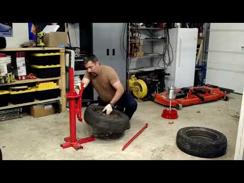 Harbor Freight Manual Tire Changer... Changing Tires!