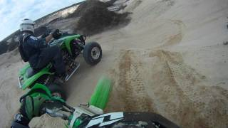 Me on my KX500 and my friends on a typical dirt bike trail ride through eastern Long Island.