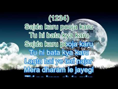 Zid Na Karo Karaoke with Scrolling Lyrics - Yesudas