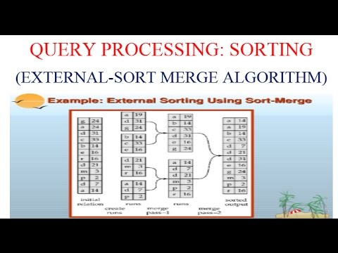 QUERY PROCESSING:SORTING (EXTERNAL SORT-MERGE ALGORITHM)