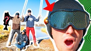 DRUNK GOGGLES Fishing CHALLENGE!! (Bad Idea)